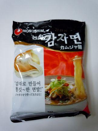 【カムジャ麺(감자면)】猫舌には食べにくい、もっちり熱々麺