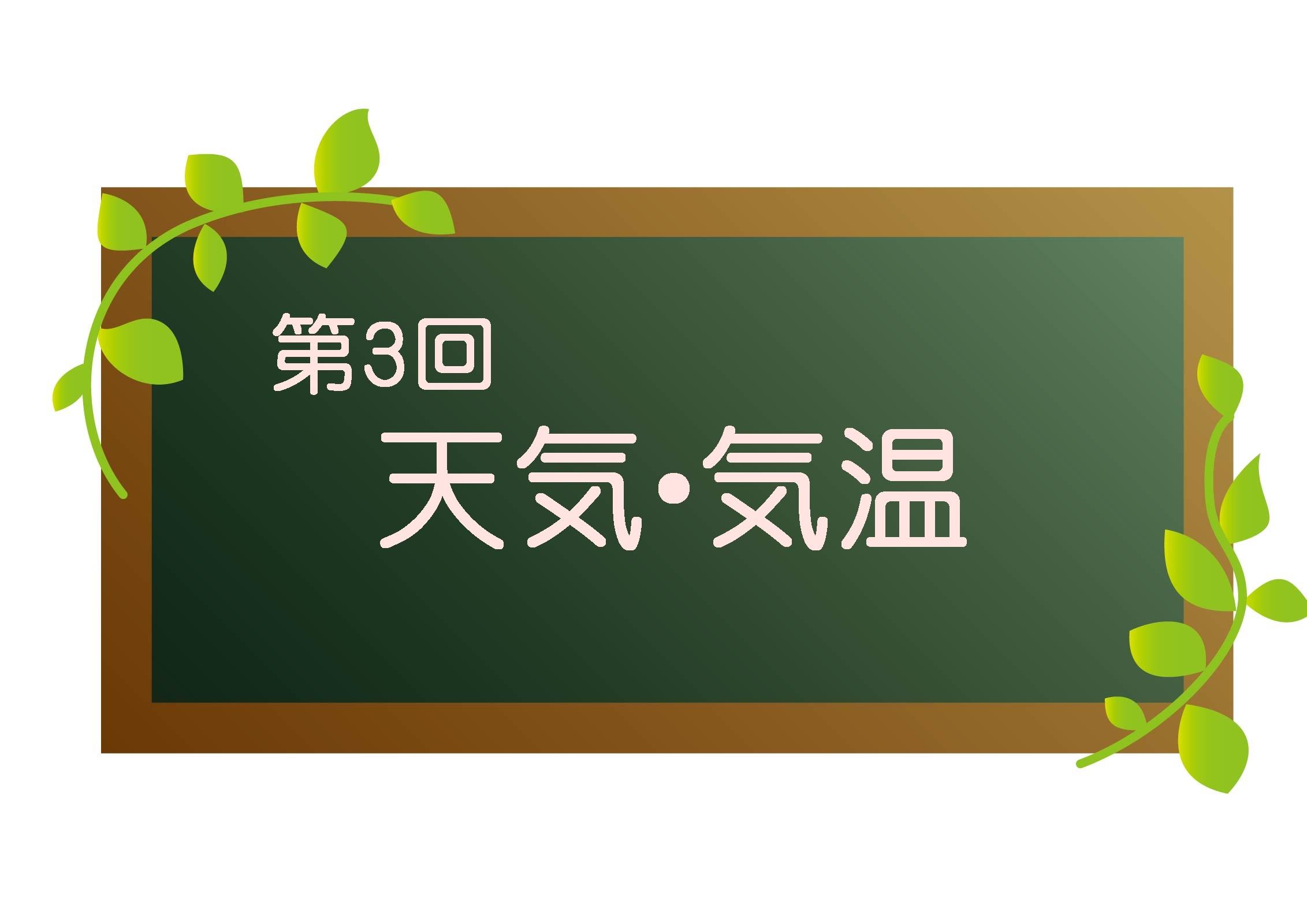 韓国語オンラインレッスン学習記録 第3回「天気・気温」